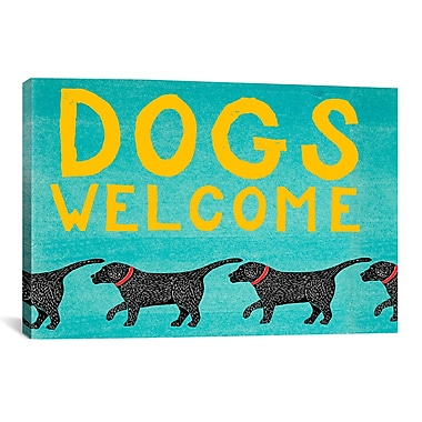iCanvas Dogs Welcome by Stephen Huneck Painting Print on Wrapped Canvas; 18'' H x 18'' W x 0.75'' D