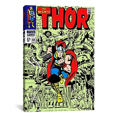 iCanvas Marvel Comics Book Thor Issue Cover #154 Graphic Art on Wrapped Canvas