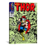 iCanvas Marvel Comics Book Thor Issue Cover #154 Graphic Art on Canvas; 41'' H x 27'' W x 1.5'' D