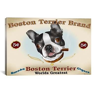 iCanvas Brian Rubenacker Boston Cigar Graphic Art on Wrapped Canvas; 12'' H x 18'' W x 0.75'' D