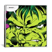 iCanvas Marvel Comic Book Hulk Art Panel F Graphic Art on Canvas; 18'' H x 18'' W x 0.75'' D