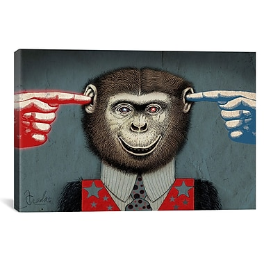 iCanvas Monkey Canvas Wall Art by Anthony Freda Graphic Art on Wrapped Canvas