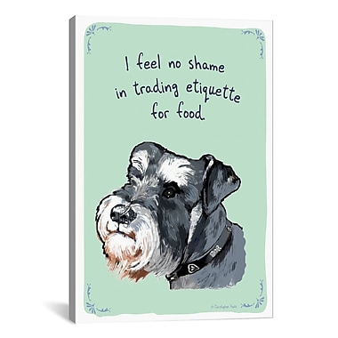 iCanvas Tiny Confessions Selling Out Schnauzer by Christopher Rozzi Painting Print on Wrapped Canvas