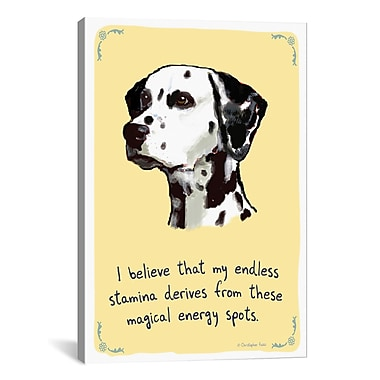 iCanvas Tiny Confessions Energized Dalmation by Christopher Rozzi Painting Print on Wrapped Canvas