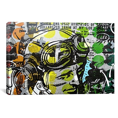 iCanvas He Man by Dan Monteavaro Graphic Art on Wrapped Canvas; 27'' H x 41'' W x 1.5'' D