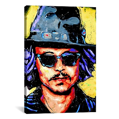 iCanvas Depp Art 002 by Rock Demarco Painting Print on Wrapped Canvas; 18'' H x 12'' W x 0.75'' D