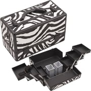 Hiker Professional Cosmetic Makeup Train Case; White