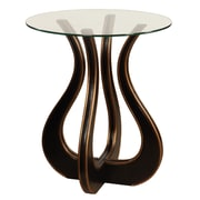 Gail's Accents ''Luxe'' Glass Top End Table