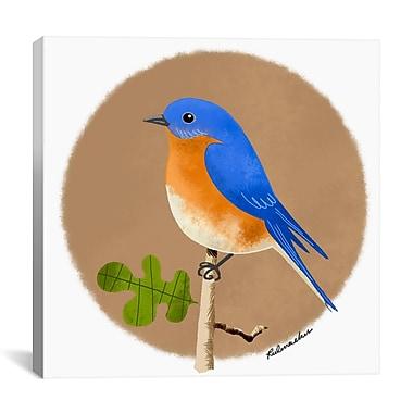 iCanvas Brian Rubenacker Blue 12 Graphic Art on Wrapped Canvas; 26'' H x 26'' W x 0.75'' D