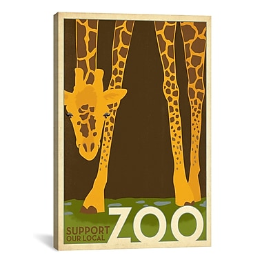 iCanvas VAF Zoo Giraffe by Anderson Design Group Graphic Art on Wrapped Canvas
