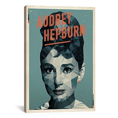 iCanvas American Flat Audrey Hepburn Graphic Art on Wrapped Canvas; 18'' H x 12'' W x 0.75'' D