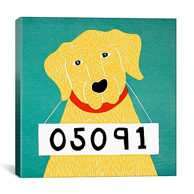 iCanvas Stephen Huneck Bad Dog Yellow Painting Print on Wrapped Canvas; 27'' H x 27'' W x 1.5'' D