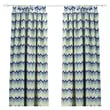 Chooty & Co See Saw Felix Cotton Tab Top Curtain Single Panel; 108''