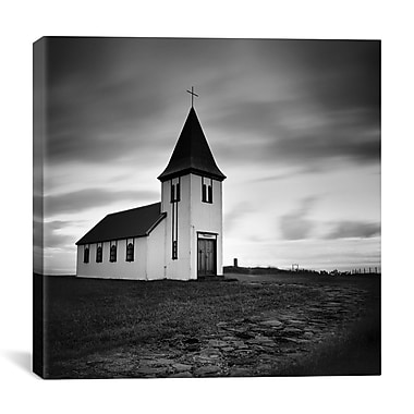iCanvas Iceland Hellnar Church by Nina Papiorek Photographic Print on Wrapped Canvas