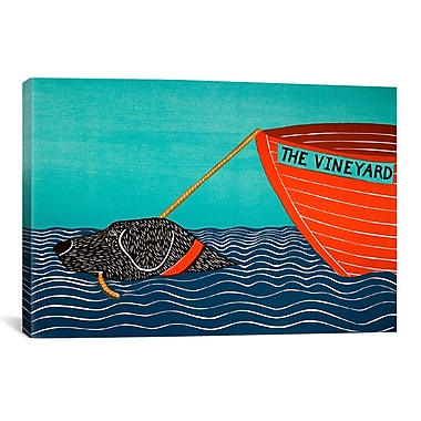 iCanvas Stephen Huneck Boat Mv Black Painting Print on Wrapped Canvas; 27'' H x 27'' W x 1.5'' D