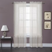 Lush Decor Duke Garden Window Curtain Panels  (Set of 2); Ivory