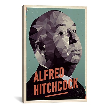 iCanvas American Flat Alfred Hitchcock Graphic Art on Wrapped Canvas; 61'' H x 41'' W x 1.5'' D