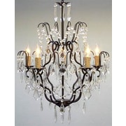 Harrison Lane Versailles 5 Light Crystal Chandelier; Plug-in Kit Not Included