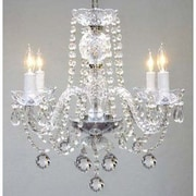 Harrison Lane 4 Light Crystal Chandelier; Plug-in Kit Not Included