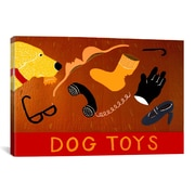iCanvas Dog Toys Yellow Canvas Print Wall Art; 26'' H x 26'' W x 0.75'' D
