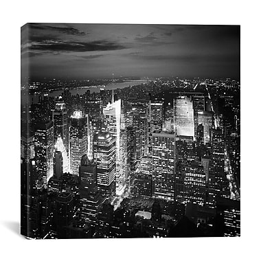 iCanvas New York City Nights by Nina Papiorek Photographic Print on Wrapped Canvas