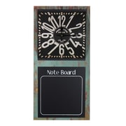 Entrada Note Board Metal Wall Clock