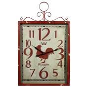 Entrada Rooster Metal Wall Clock