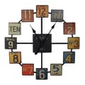 Entrada Paris Oversized 23.6'' Metal Wall Clock