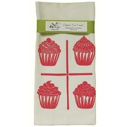 Artgoodies Organic Cupcake Grid Block Print Tea Towel