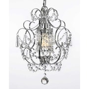 Harrison Lane Versailles 1 Light Crystal Chandelier; Plug-in Kit Not Included