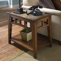 Riverside Furniture Andorra End Table; Eden Burnished Cherry