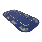JP Commerce Texas Hold'em Folding Table Top with Cup Holders; Blue