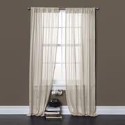 Lush Decor Rhythm Window Curtain Panels  (Set of 2); Ivory