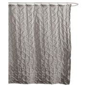 Lush Decor Lake Como Polyester Shower Curtain; Gray