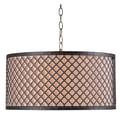 Kenroy Home 20in. Metal Hawthorn 3 Light Drum Pendant