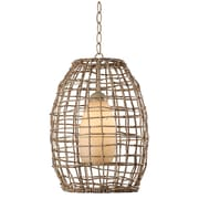 Kenroy Home 12 Glass Seagrass 1 Light Mini Pendant