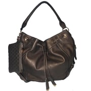 Zallzo™ 12 x 17 x 8 Jessica's Secret Hobo Shoulder Bag, Bronze