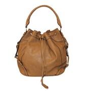 Zallzo™ 12 x 17 x 8 Jessica's Secret Hobo Shoulder Bag, Tan