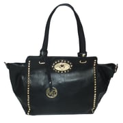 "Michael Michelle 11"" x 19"" x 6"" ""Upton"" Wide Studded Tote Bag, Black"