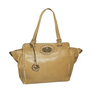 "Michael Michelle 11"" x 19"" x 6"" ""Upton"" Wide Studded Tote Bag, Sand"
