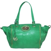 "Michael Michelle 11"" x 19"" x 6"" ""Upton"" Wide Studded Tote Bag, Green"