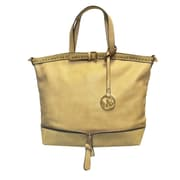 "Michael Michelle 12"" x 17"" x 6"" ""Bellucci"" East-West Zip Tote Bag, Sand"