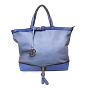 Michael Michelle 12 x 17 x 6 Bellucci East-West Zip Tote Bag, Lavender