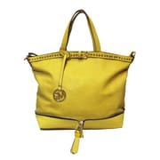 Michael Michelle 12 x 17 x 6 Bellucci East-West Zip Tote Bag, Yellow