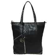 Michael Michelle 15 x 13 x 6 Everdeen Tall Studded Tote Bag, Black
