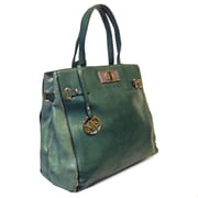Michael Michelle 14 x 18 x 4 1/2 McCardell Medium Structured Tote Bag, Green
