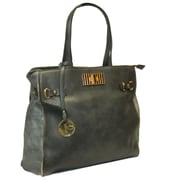 Michael Michelle 14 x 18 x 4 1/2 McCardell Medium Structured Tote Bag, Gray