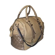Michael Michelle Graham Deluxe Top Handle Bag, Sand