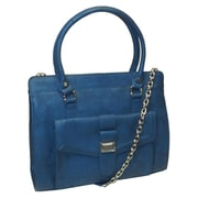 Izzy & Ali 11 1/2 x 13 1/2 x 3 1/2 Lynne Zipper Tote Bag, Blue