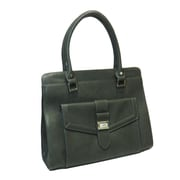 Izzy & Ali 11 1/2 x 13 1/2 x 3 1/2 Lynne Zipper Tote Bag, Dark Gray